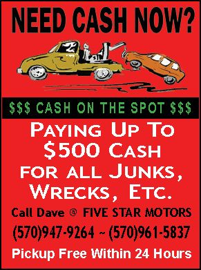 NEED CASH NOW? - For Sale - Cars & Trucks - Paper Shop - Free