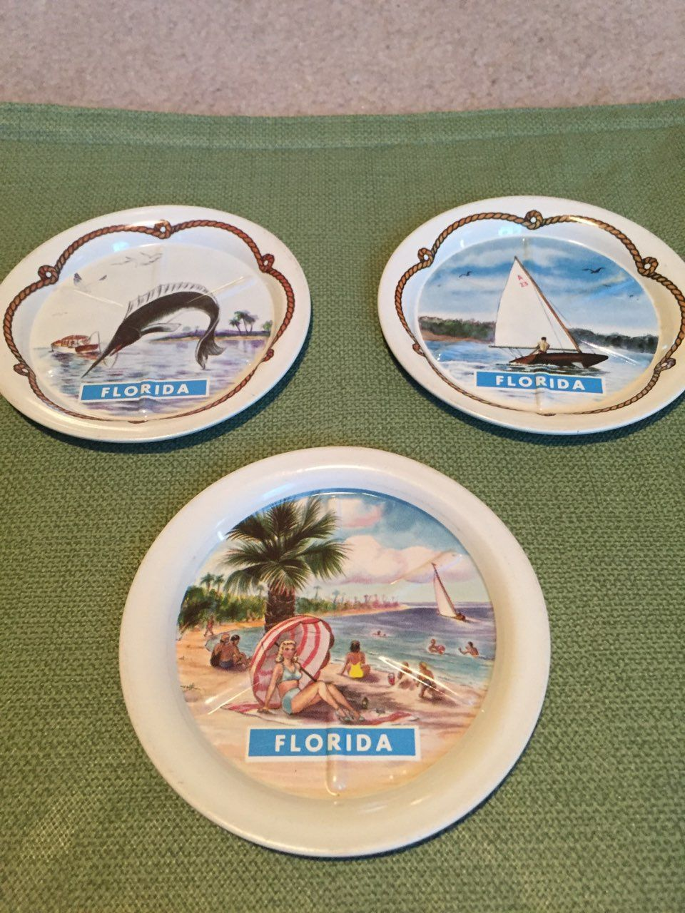 VINTAGE 1950S FLORIDA THEMED DRINK COASTERS