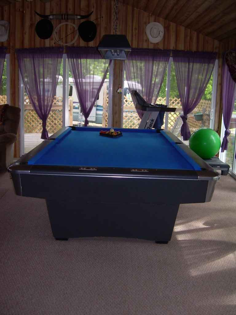 BRUNSWICK TOURNAMENT SIZE POOL TABLE For Sale Sports Exercise - Tournament size pool table