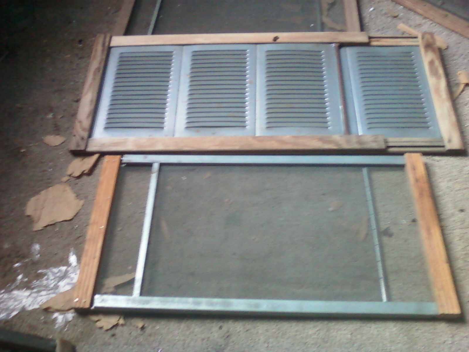 Vintage Adjustable Window Screens And Louvers